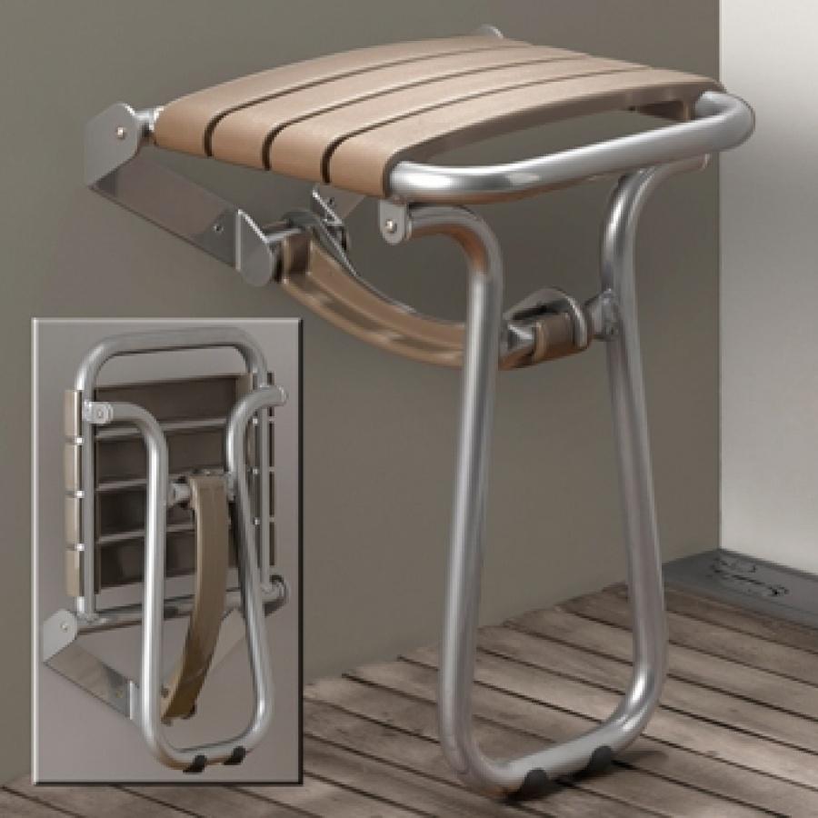 si ge de douche escamotable pellet 047629 taupe meuble de salle de bain. Black Bedroom Furniture Sets. Home Design Ideas