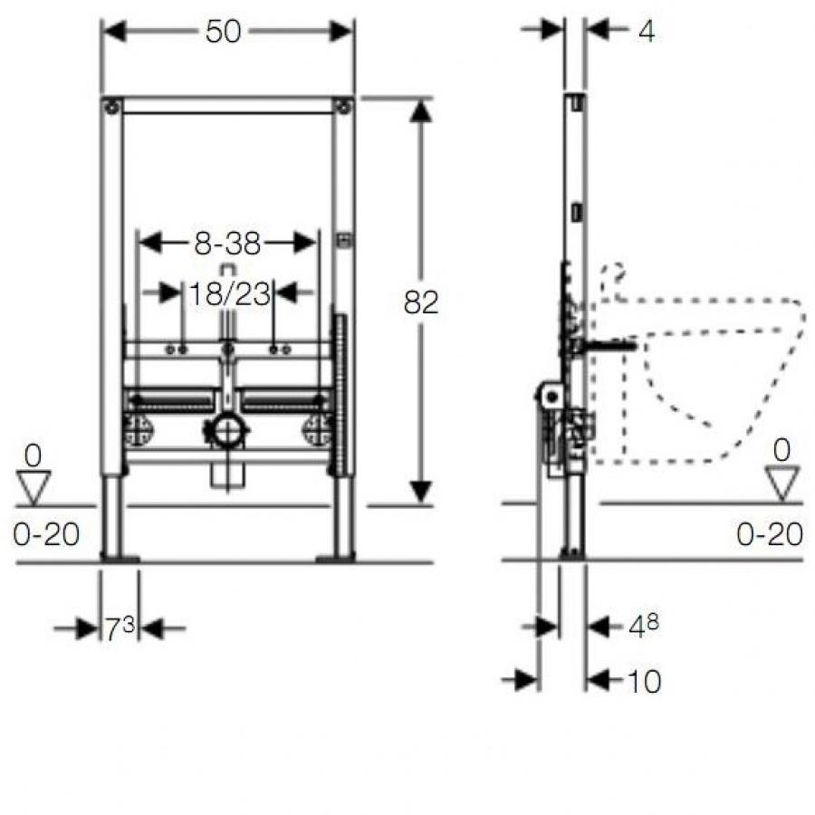 b ti support duofix pour bidet suspendu meuble de salle de bain douche. Black Bedroom Furniture Sets. Home Design Ideas