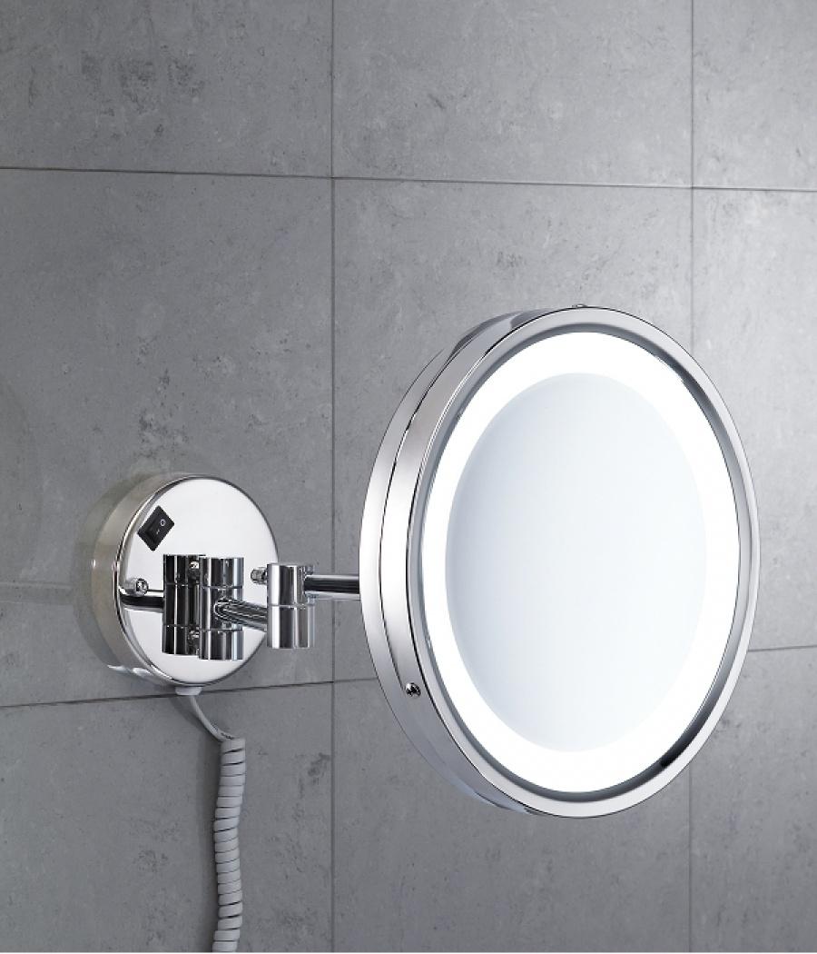 Miroir Mural Orientable Grossissant Avec Eclairage Led