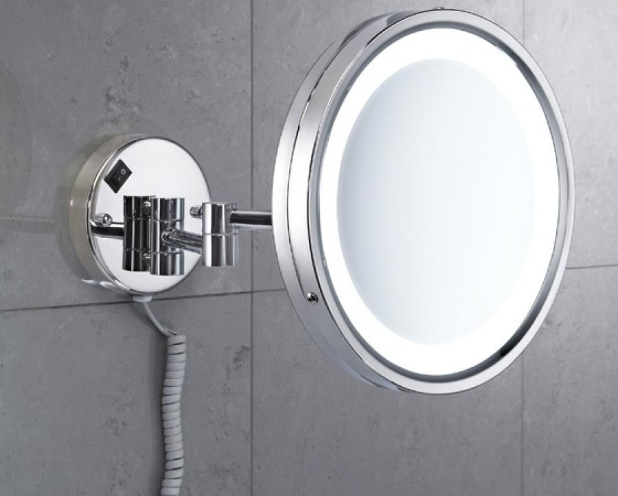 miroir mural orientable grossissant avec eclairage led 2118 vincent meuble. Black Bedroom Furniture Sets. Home Design Ideas