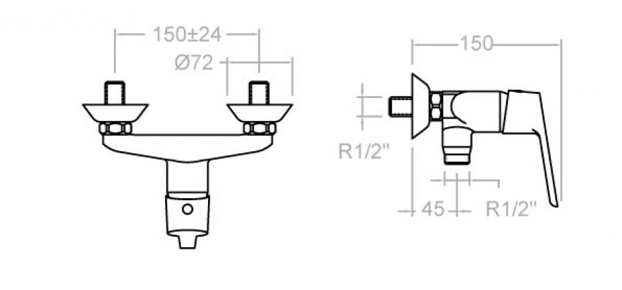 mitigeur douche ramon soler 5508y ks. Black Bedroom Furniture Sets. Home Design Ideas