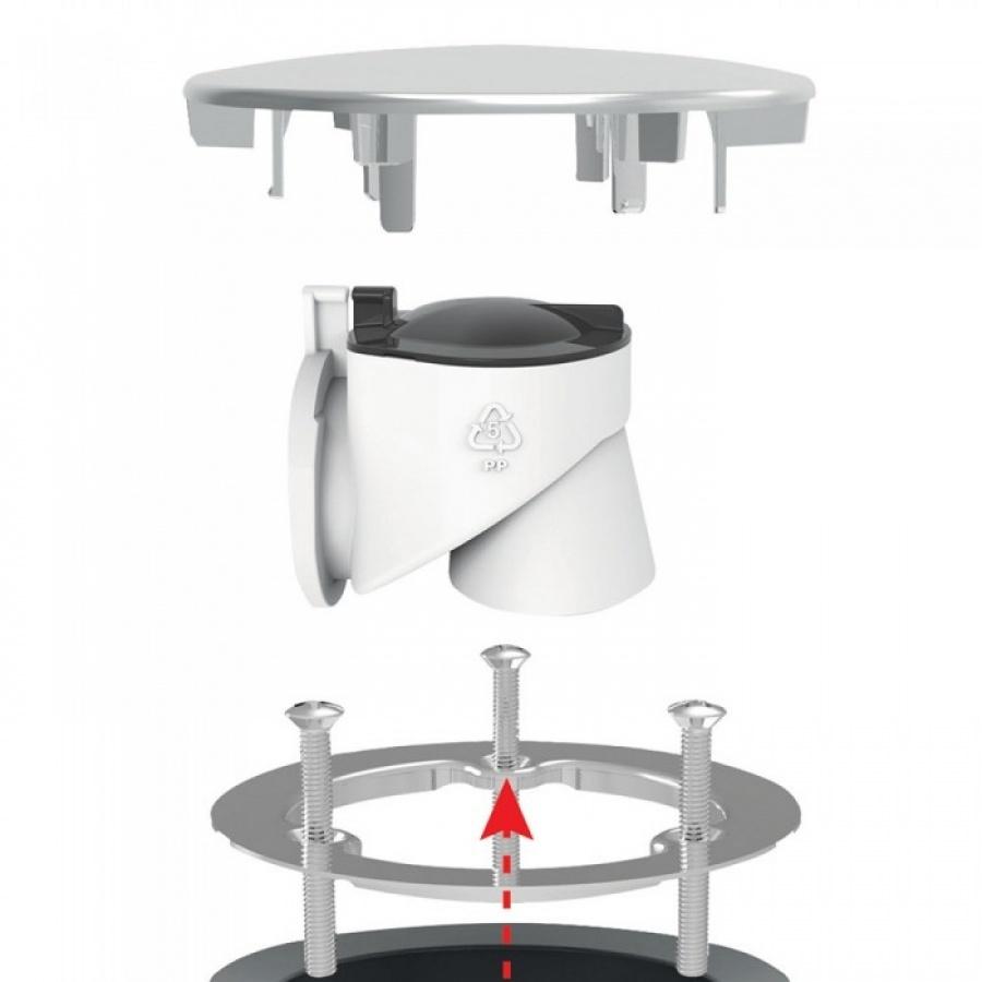 bonde de douche extra plate minime pour receveur 90 mm. Black Bedroom Furniture Sets. Home Design Ideas
