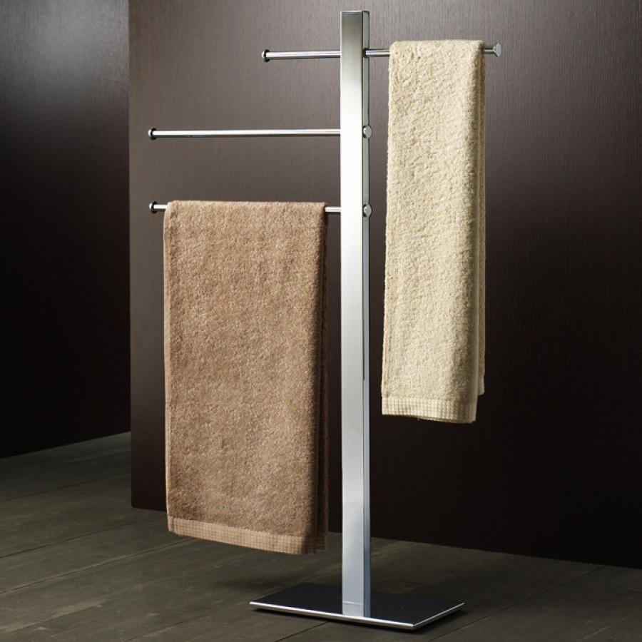 porte serviettes coulissant sur pied chrom bridge 7631 meuble de salle de. Black Bedroom Furniture Sets. Home Design Ideas