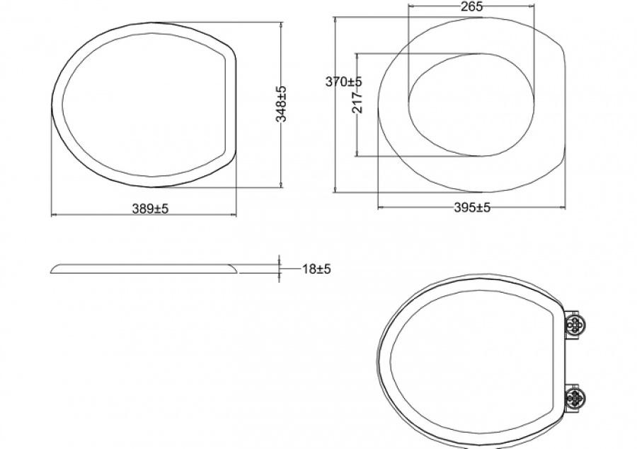 wc burlington avec levier de r servoir en c ramique taille moyenne 520 abattant frein de chute. Black Bedroom Furniture Sets. Home Design Ideas
