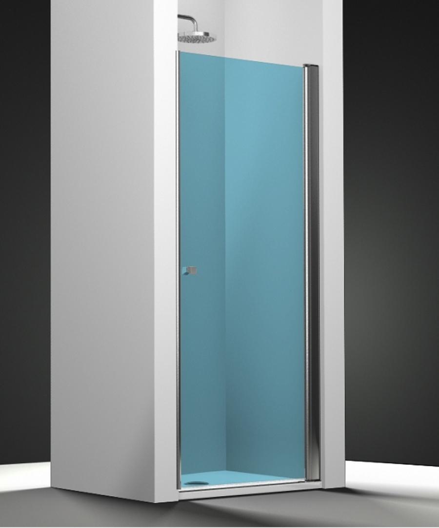 Porte De Douche Pivotante Verre Bleu 60cm Droite Sanitairepro Fr