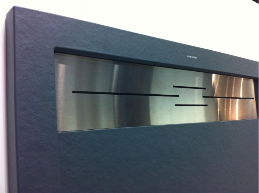 receveur de douche coulement lin aire androm de beige 70x80 meuble de salle. Black Bedroom Furniture Sets. Home Design Ideas