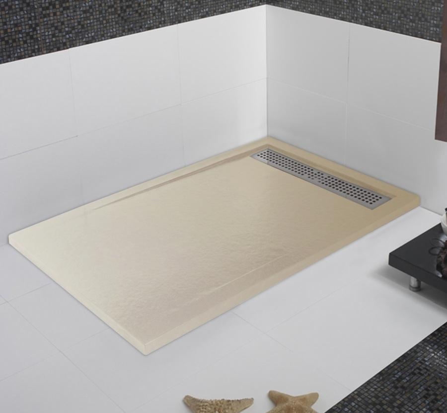Receveur de douche coulement lin aire androm de beige for Miroir 80x160