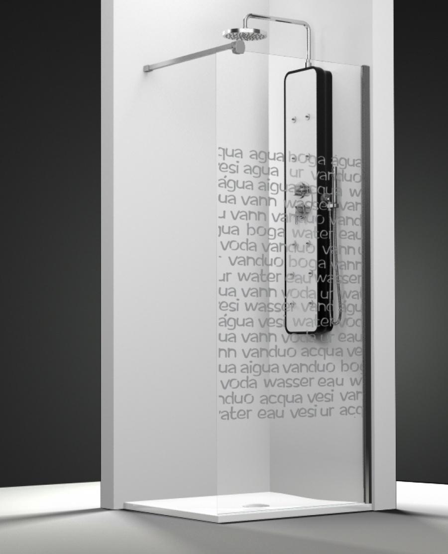 paroi de douche fixe one verre transparent sabl aqua 30cm droite meuble de. Black Bedroom Furniture Sets. Home Design Ideas
