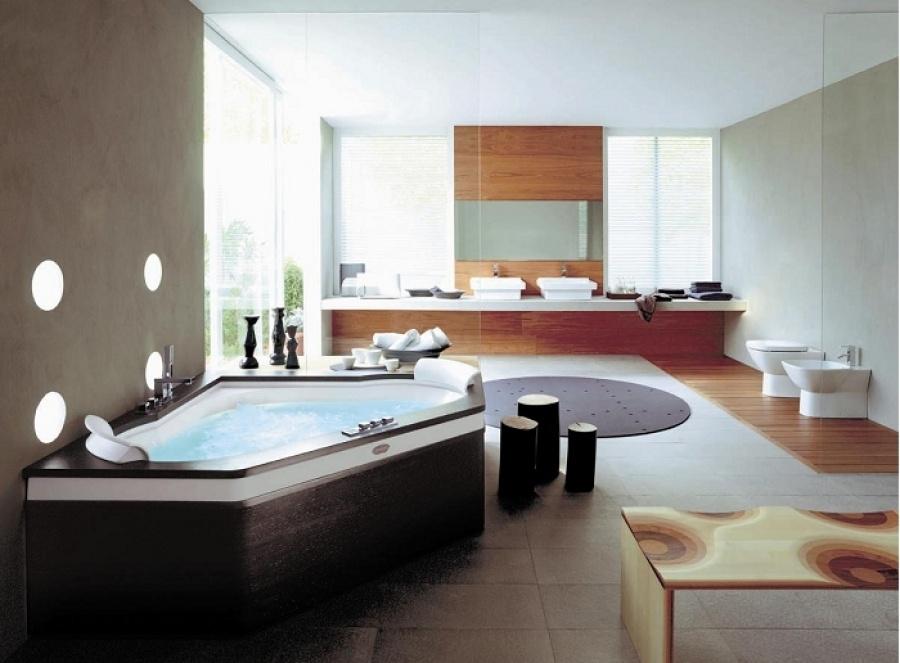 baignoire d 39 angle aura plus corner 160x160 tablier bois jacuzzi meuble de. Black Bedroom Furniture Sets. Home Design Ideas