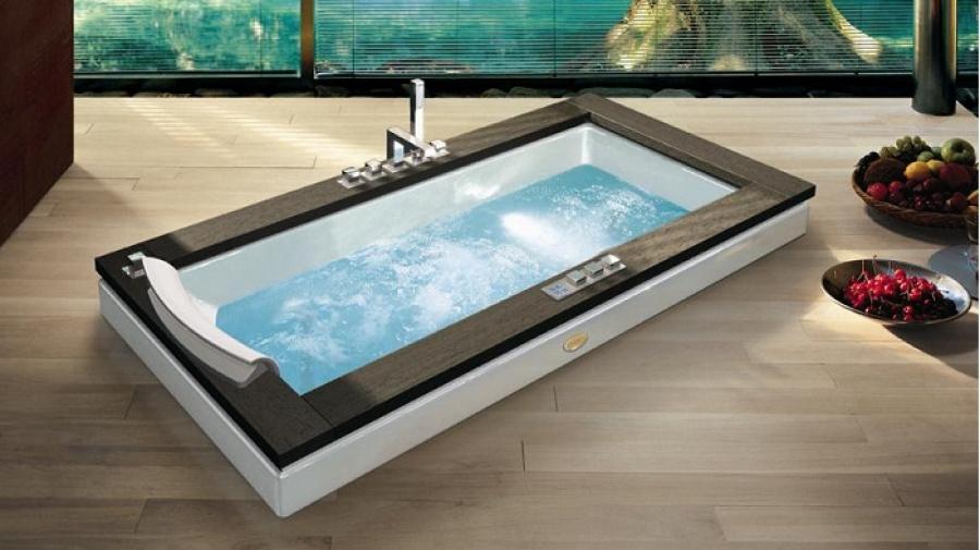 Baignoire baln o aura uno 180x90 weng jacuzzi meuble de - Prix baignoire balneo jacuzzi ...
