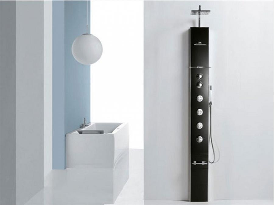 colonne de douche thermostatique hydromassante cascata 1 novellini meuble de. Black Bedroom Furniture Sets. Home Design Ideas