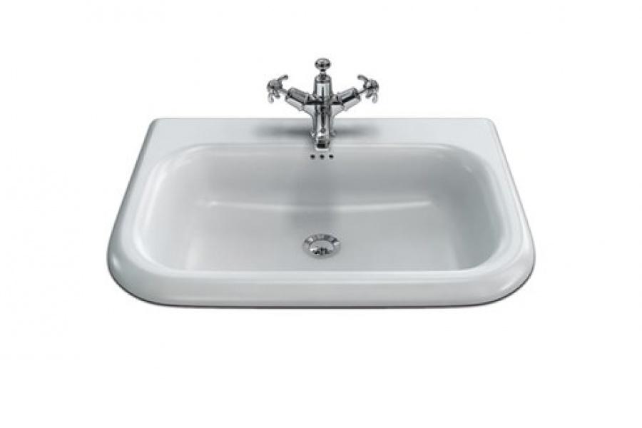 lavabo clearwater tradition 65cm encastrer meuble de salle de bain douche. Black Bedroom Furniture Sets. Home Design Ideas