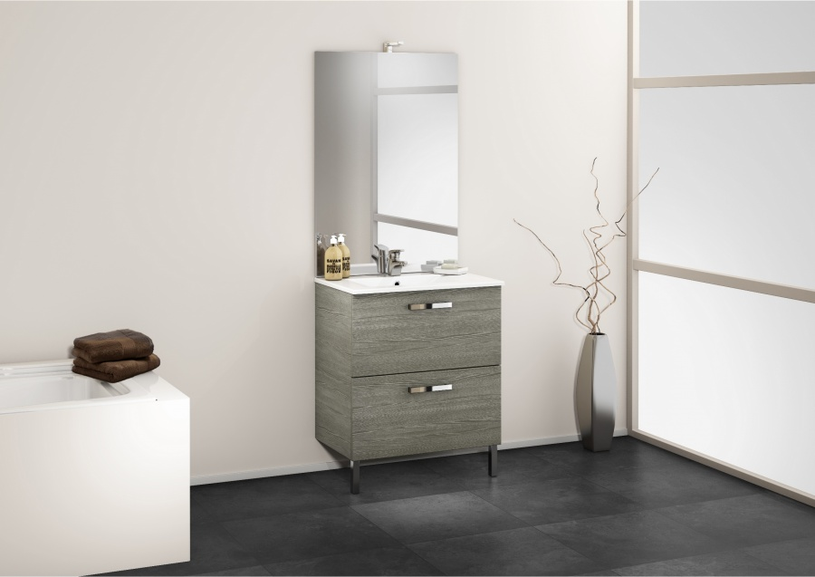 meuble simple vasque 70 cm chango sci e gris meuble de salle de bain douche. Black Bedroom Furniture Sets. Home Design Ideas