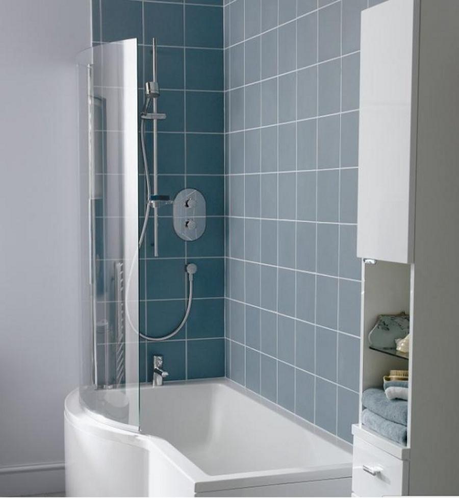 Baignoire douche asym trique nue connect gauche 150x70 meuble de salle de - Baignoire douche asymetrique ...