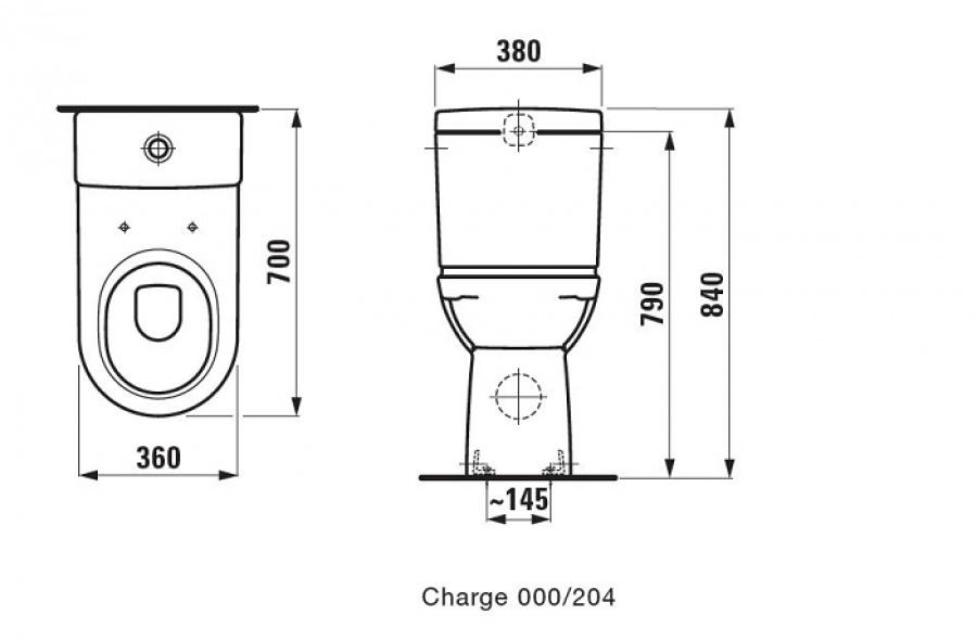 Pack wc sur lev laufen pro sortie verticale 220 305 mm du mur meuble de - Wc sureleve sortie verticale ...
