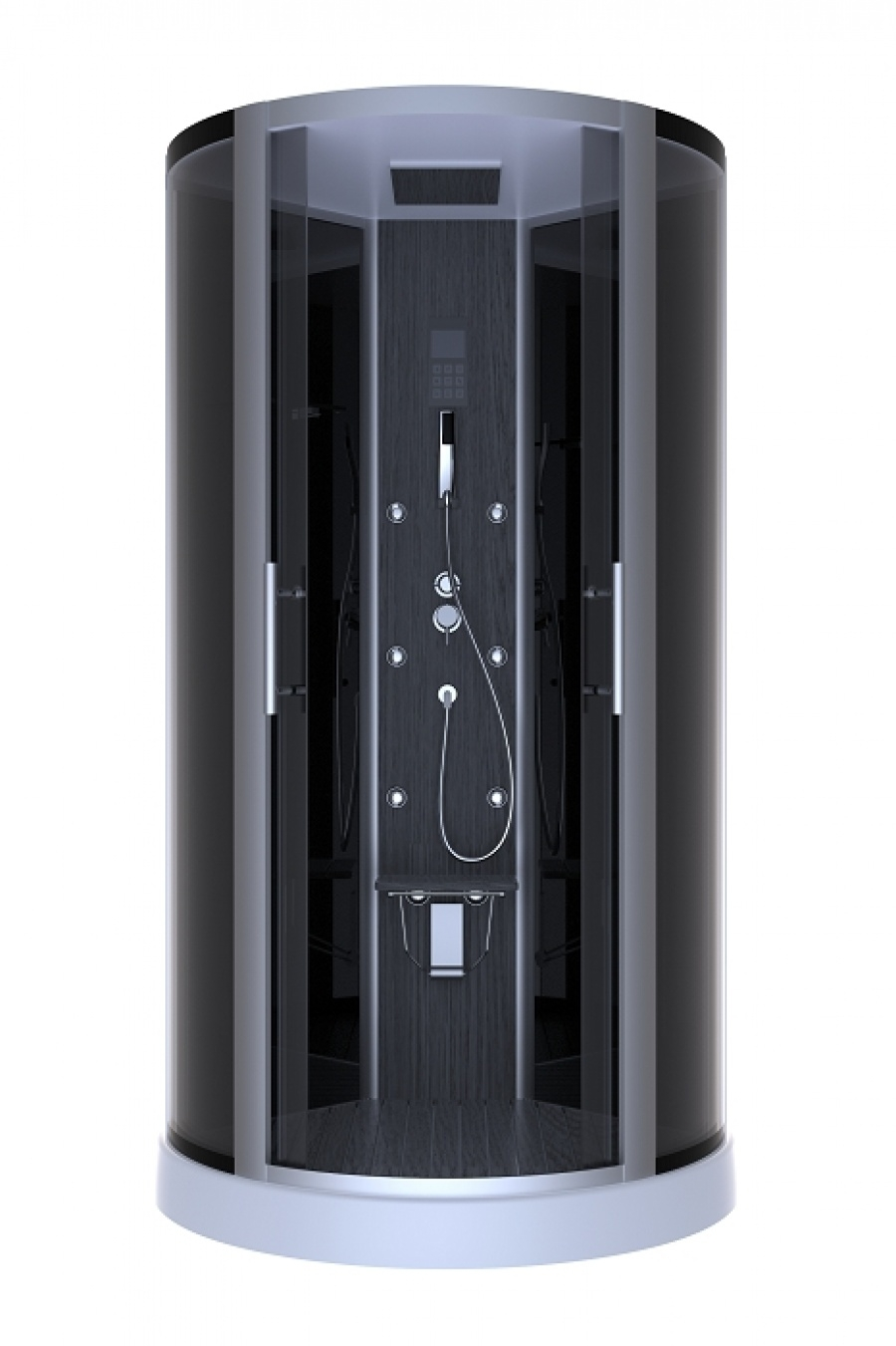 cabine de douche 1 4 rond dark night hammam 95cm aurlane meuble de salle de. Black Bedroom Furniture Sets. Home Design Ideas