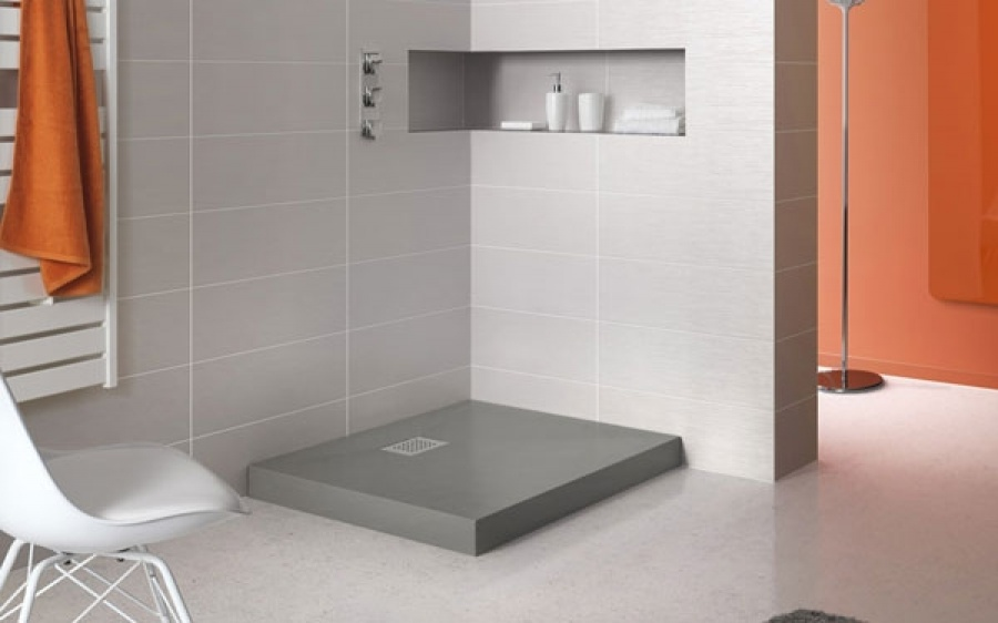 receveur de douche carr 80x80 kinecompact gris meuble de salle de bain. Black Bedroom Furniture Sets. Home Design Ideas