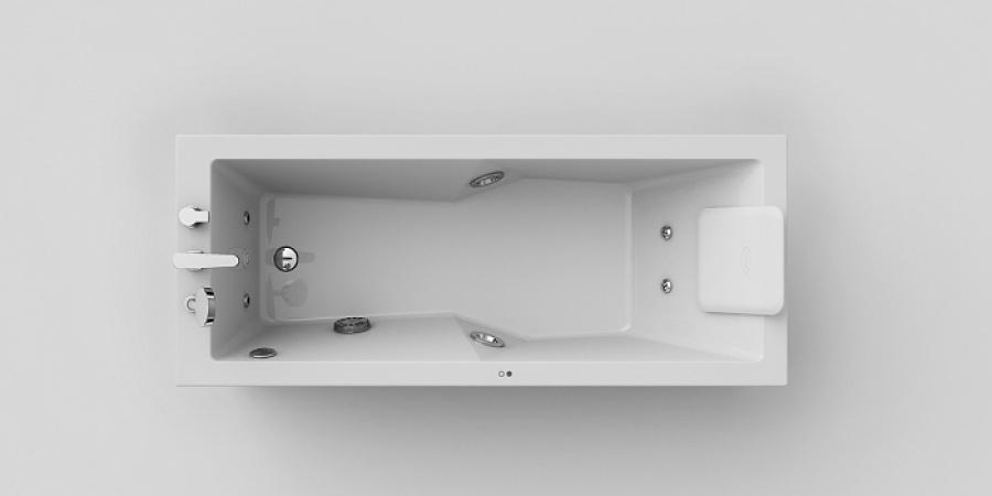 baignoire baln o energy rectangulaire 170x70 t te droite base meuble. Black Bedroom Furniture Sets. Home Design Ideas