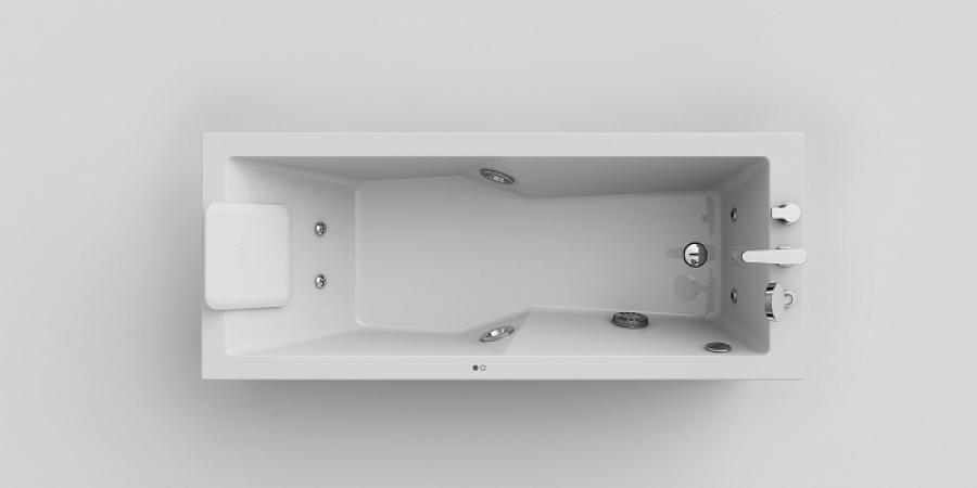Baignoire baln o energy rectangulaire version gauche 180x80 jacuzzi sanitai - Prix baignoire balneo jacuzzi ...