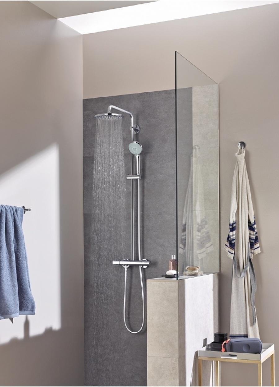 colonne de douche thermostatique euphoria system xl 210. Black Bedroom Furniture Sets. Home Design Ideas