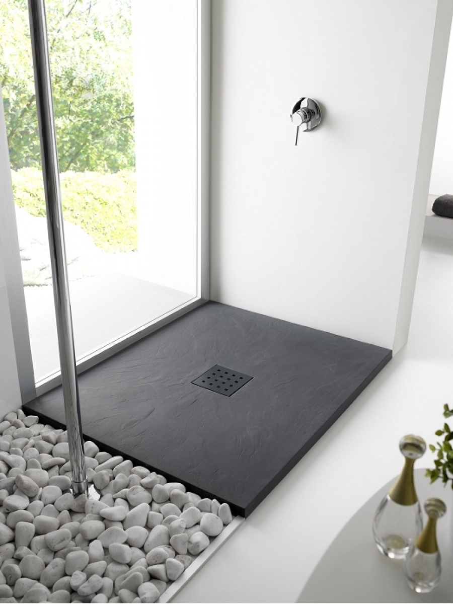 receveur de douche 70x90 pizarra cr me meuble de salle de bain douche. Black Bedroom Furniture Sets. Home Design Ideas