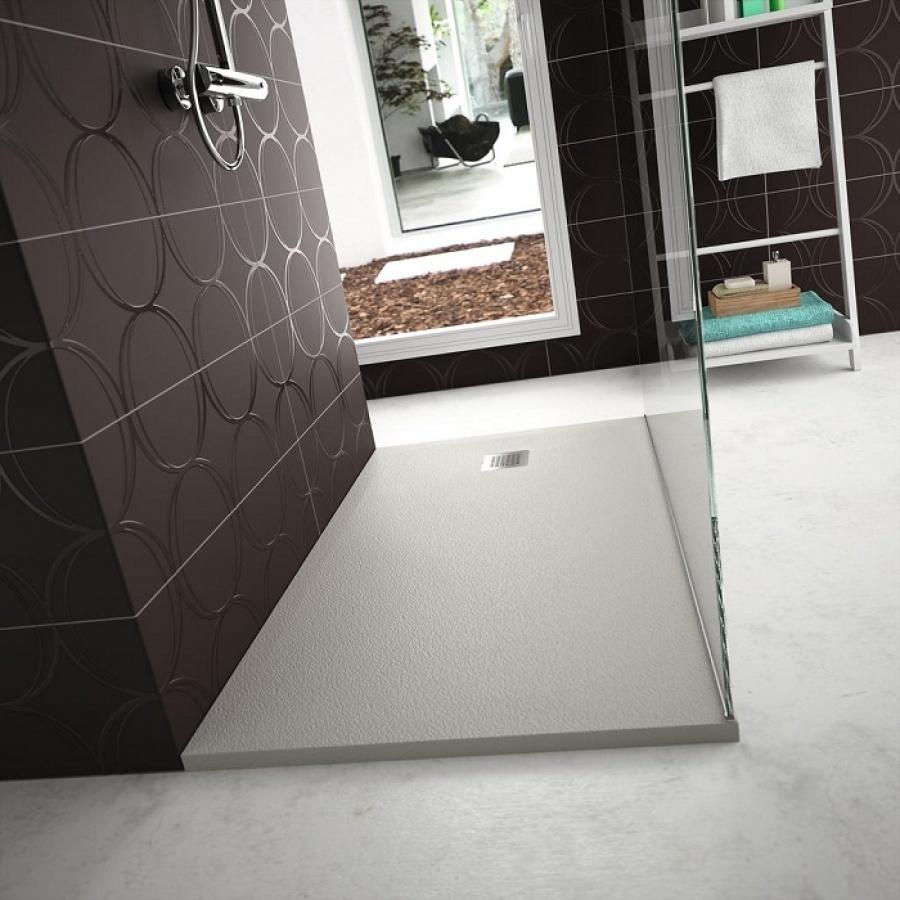 receveur de douche ultra flat s gris b ton 100x70 cm. Black Bedroom Furniture Sets. Home Design Ideas