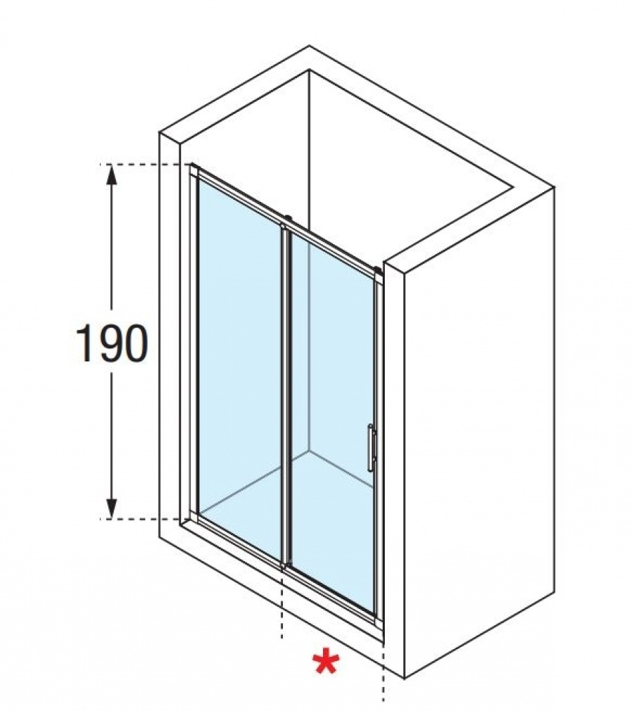 porte de douche 2 panneaux lunes 2p 130cm transparent silver meuble de. Black Bedroom Furniture Sets. Home Design Ideas