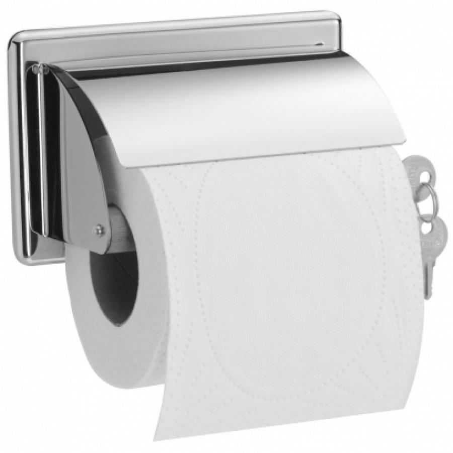distributeur papier wc rouleau avec cl meuble de salle de bain douche. Black Bedroom Furniture Sets. Home Design Ideas