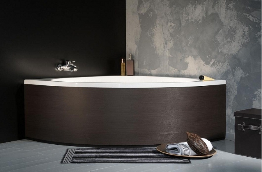 habillage de baignoire courbe universel dress code teck meuble de salle de. Black Bedroom Furniture Sets. Home Design Ideas