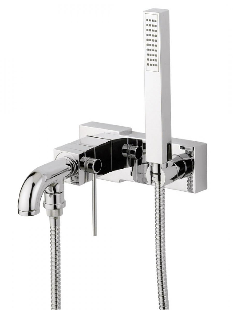 mitigeur bain douche chrom cube meuble de salle de bain douche baignoire. Black Bedroom Furniture Sets. Home Design Ideas
