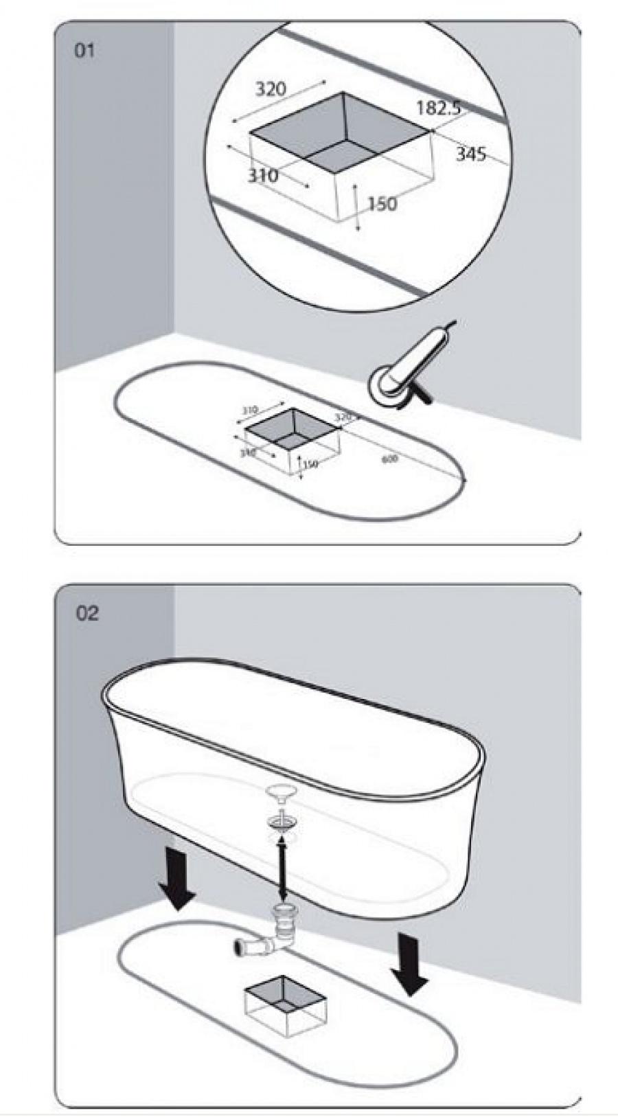 baignoire il t design cedam 170x70 venus meuble de salle de bain douche. Black Bedroom Furniture Sets. Home Design Ideas