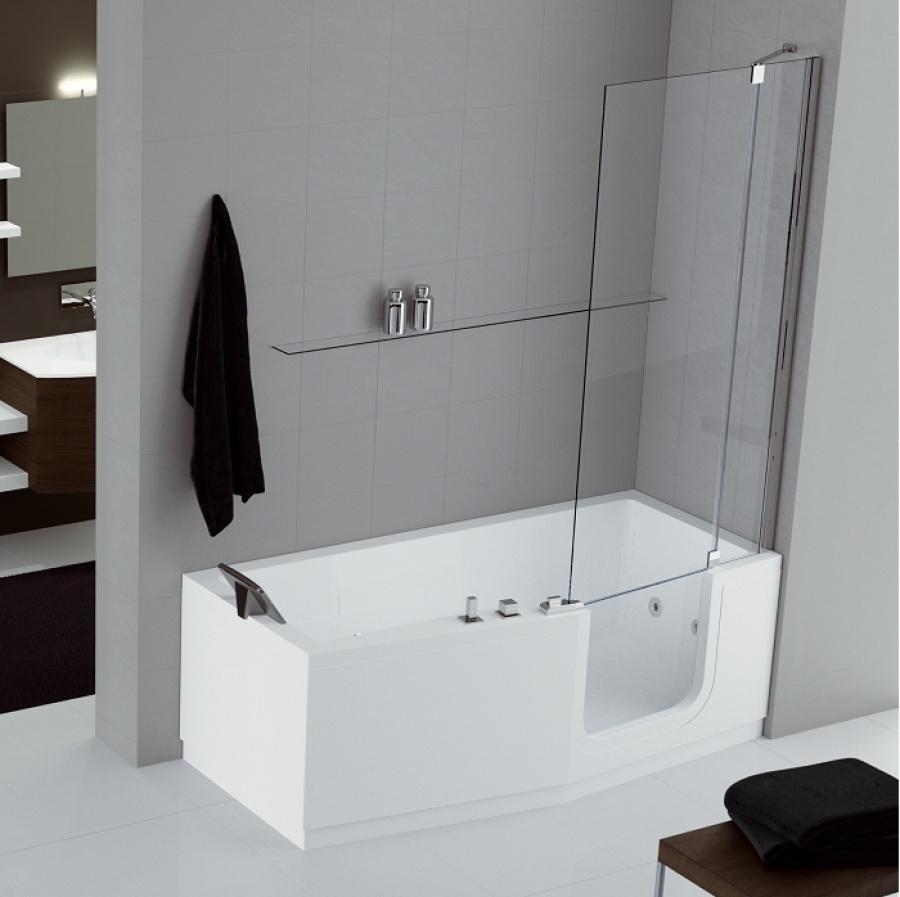 Combin bain douche iris 170 x 70 80 version droite - Combine salle de bain ...