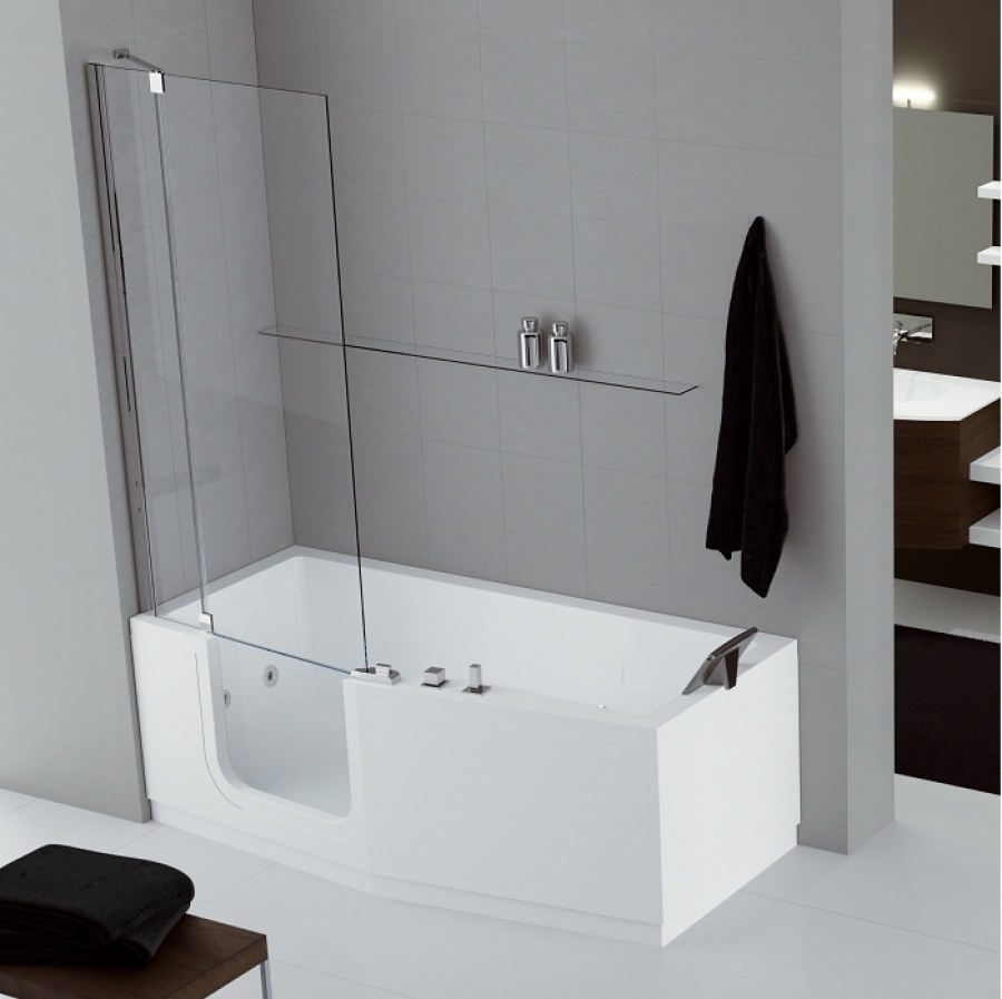 combin bain douche iris 170 x 70 80 version gauche. Black Bedroom Furniture Sets. Home Design Ideas