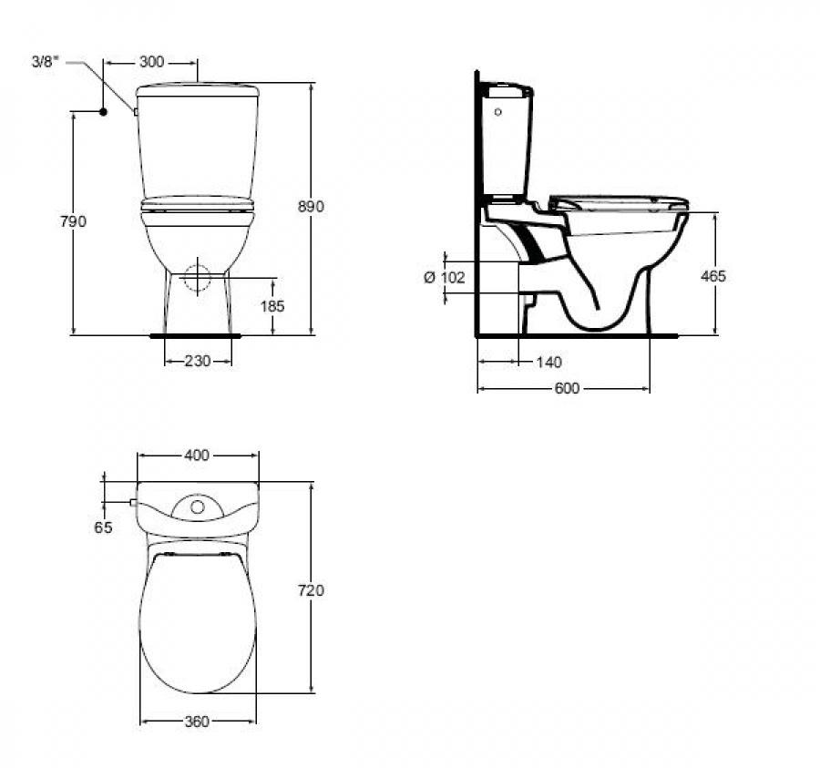 pack wc sur lev sortie horizontale kheops ideal standard meuble de salle de. Black Bedroom Furniture Sets. Home Design Ideas