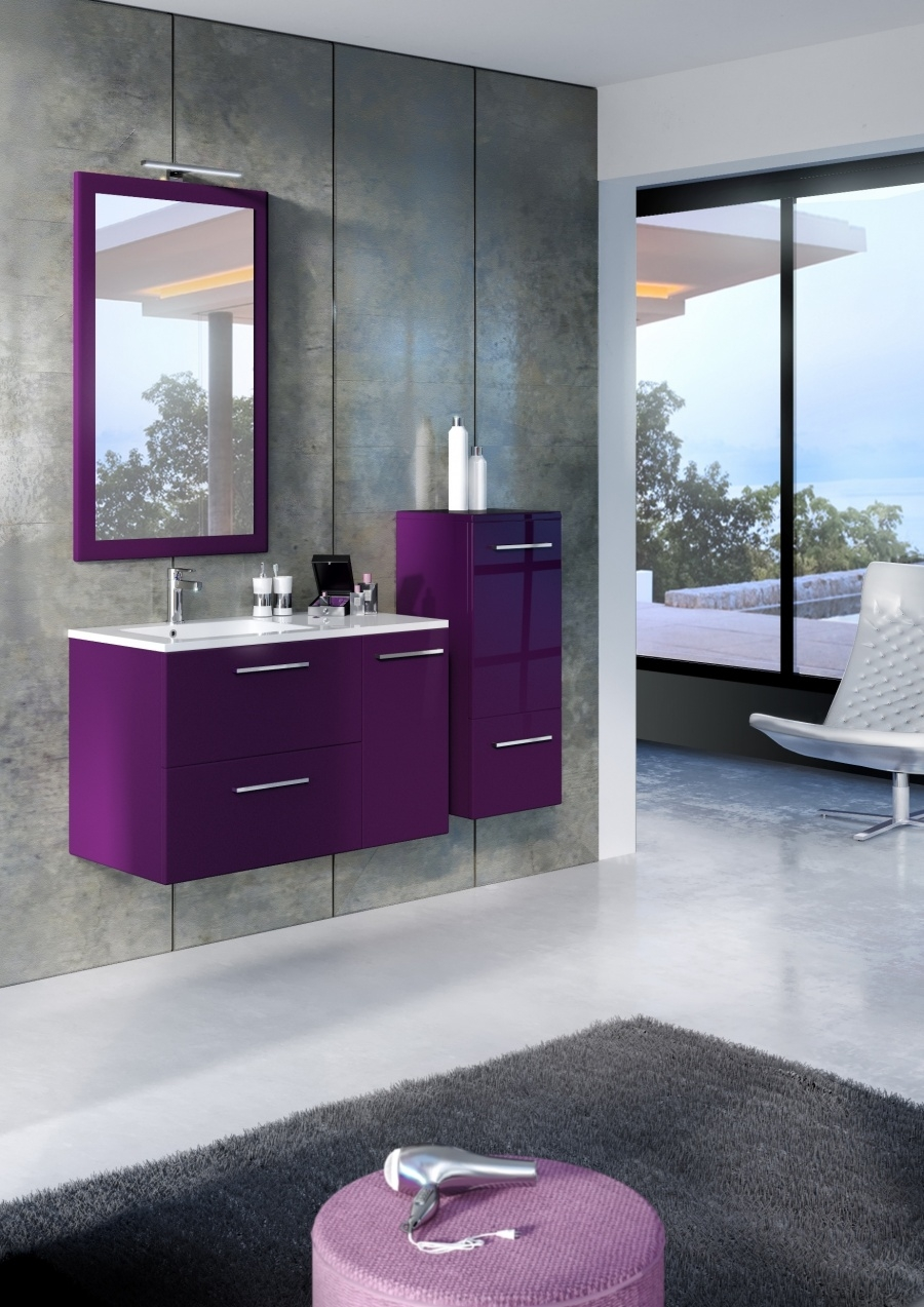 meuble simple vasque jazz 90 cm cristal prune meuble de salle de bain. Black Bedroom Furniture Sets. Home Design Ideas