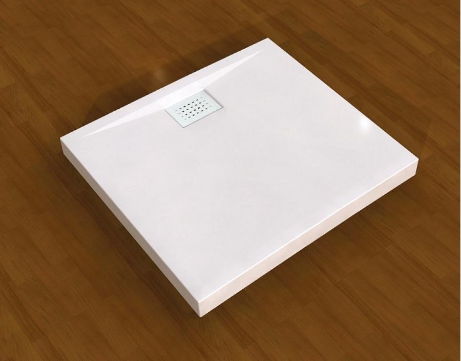 Baignoire 80×80  Receveur de douche carré 80×80 Kinecompact Blanc