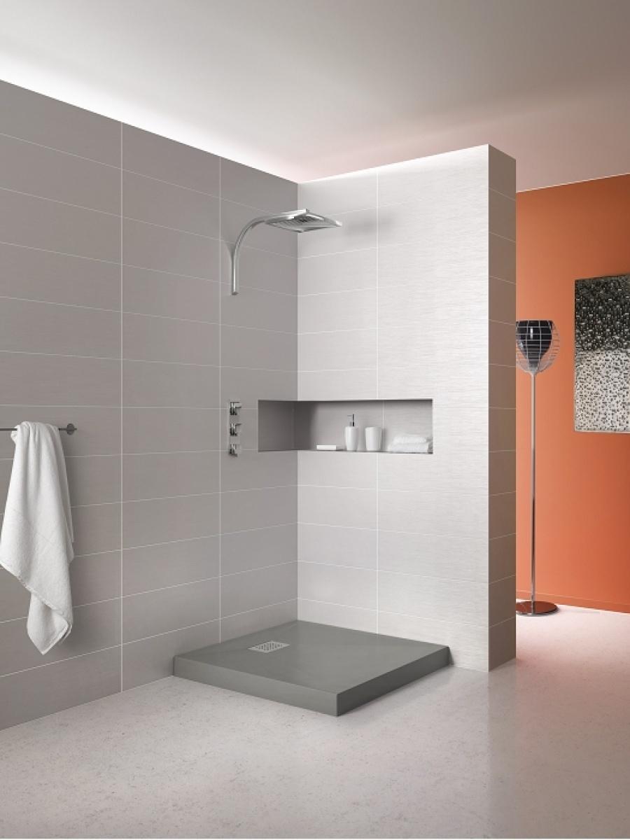 receveur de douche carr 80x80 kinecompact gris. Black Bedroom Furniture Sets. Home Design Ideas