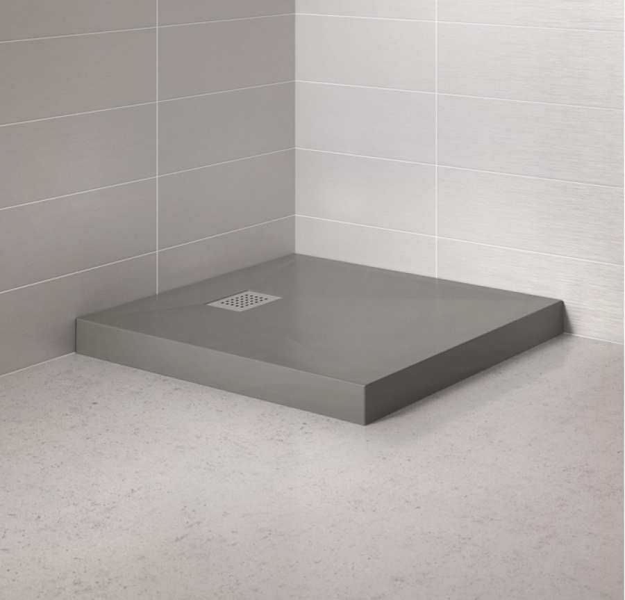 Receveur de douche carr 80x80 kinecompact gris meuble de - Receveur de douche kinecompact ...