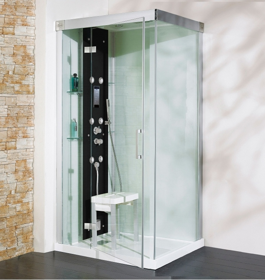 cabine de douche kineform hydro hammam carr 90 cm perle noire meuble de. Black Bedroom Furniture Sets. Home Design Ideas