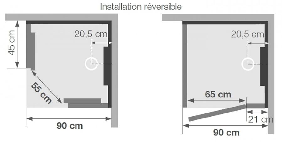 old cabine de douche hydromassante hammam 100x80 kineform 100 saphir. Black Bedroom Furniture Sets. Home Design Ideas