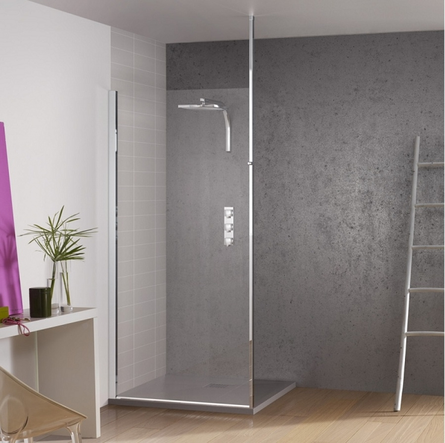 paroi de douche fixe kinespace solo avec m t 70 cm meuble de salle de bain. Black Bedroom Furniture Sets. Home Design Ideas
