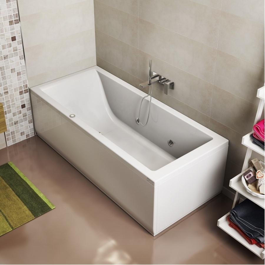 baignoire baln o lagoon 6 buses 170x70 cm gauche meuble de salle de bain. Black Bedroom Furniture Sets. Home Design Ideas