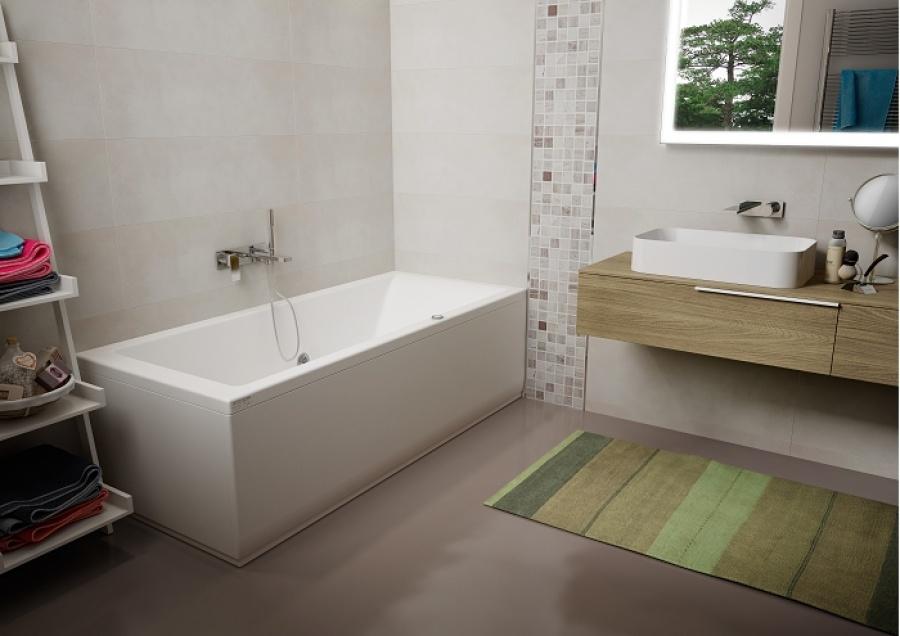 baignoire baln o lagoon 170x70 cm droite jacuzzi meuble de salle de bain. Black Bedroom Furniture Sets. Home Design Ideas