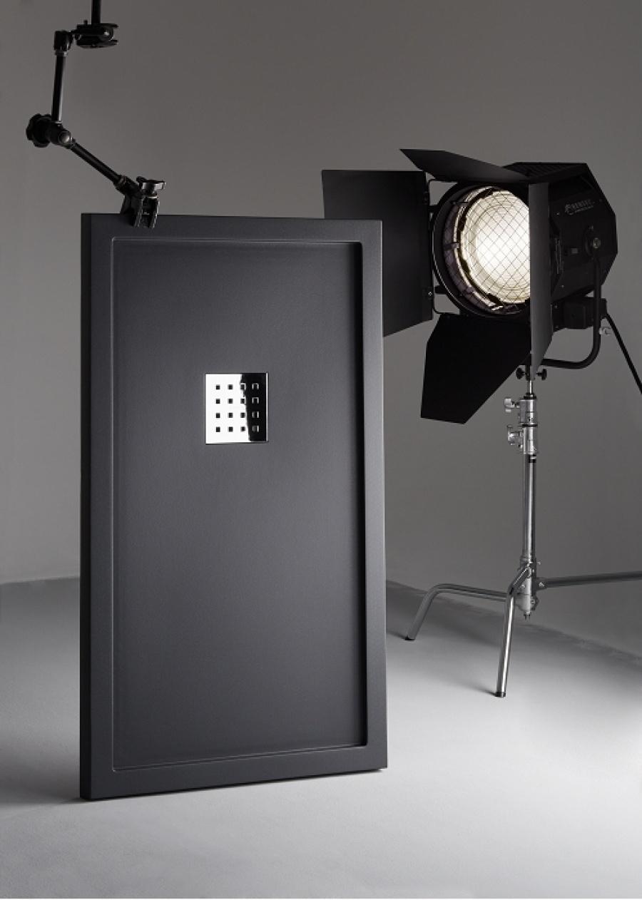 receveur de douche 70x100 liso enmarcado blanc meuble de salle de bain. Black Bedroom Furniture Sets. Home Design Ideas