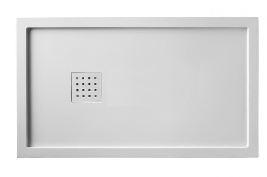 Receveur De Douche 90x160 Liso Enmarcado Blanc Sanitairepro Fr
