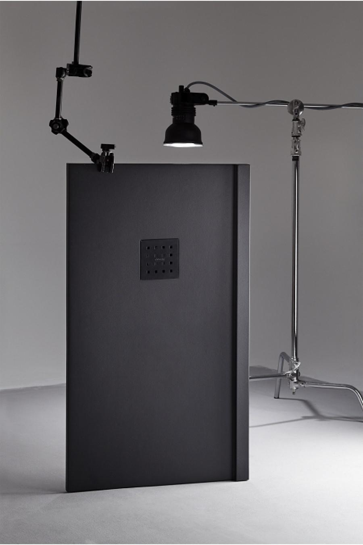 receveur de douche 70x120 liso enmarcado frontal graphite meuble de salle de. Black Bedroom Furniture Sets. Home Design Ideas