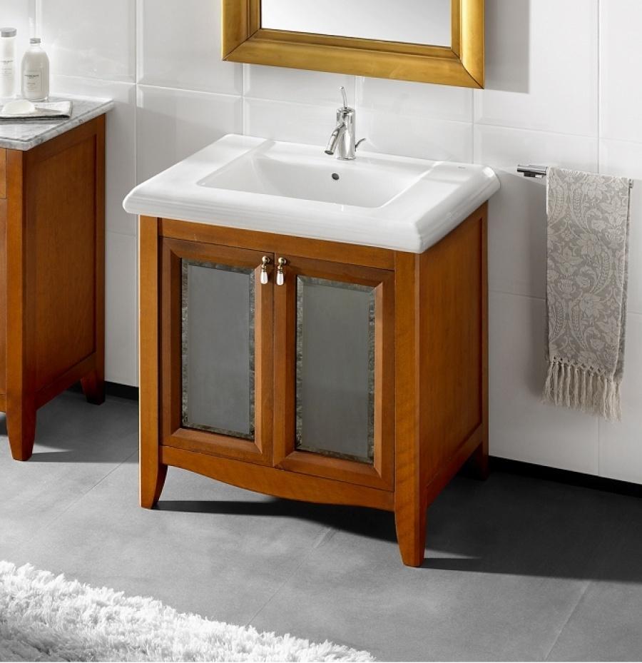 Meuble r tro simple vasque 75cm america roca - Meuble vasque retro ...