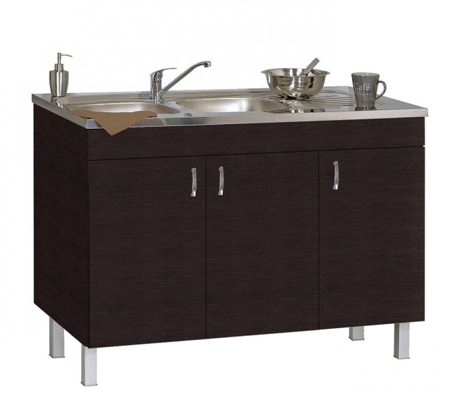 meuble sous evier 120 cm weng d co clip n ova meuble de salle de bain. Black Bedroom Furniture Sets. Home Design Ideas