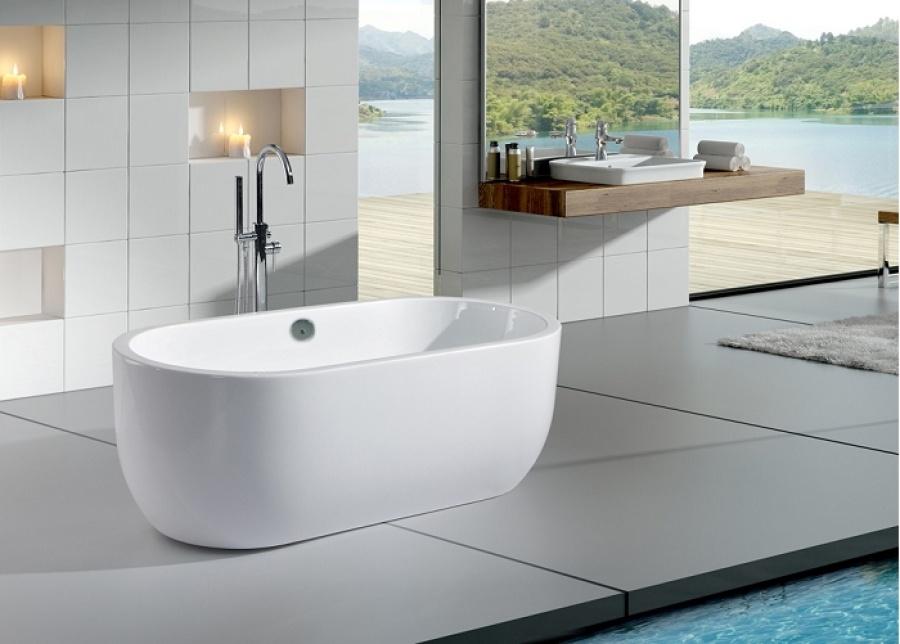 Baignoire lot nassau meuble de salle - Baignoire ilot 160x70 ...