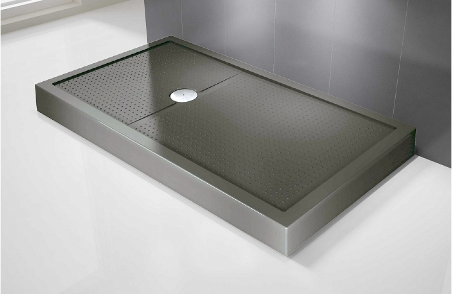 Receveur de douche rectangulaire olympic plus gris h12 for Miroir 70x170